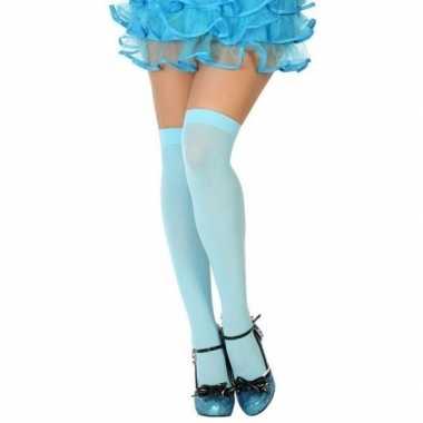 Carnavalskleding neon blauwe verkleed kousen dames arnhem