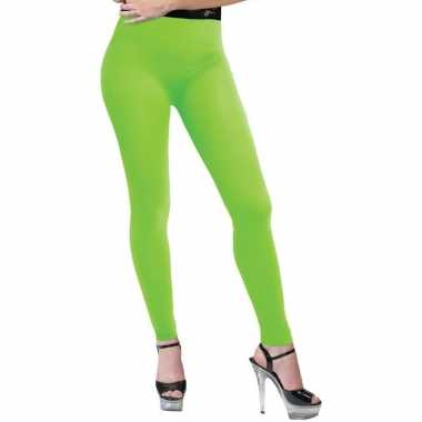 Carnavalskleding neon groene legging dames arnhem