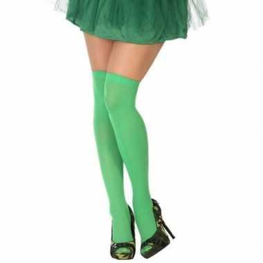 Carnavalskleding neon groene verkleed kousen dames arnhem