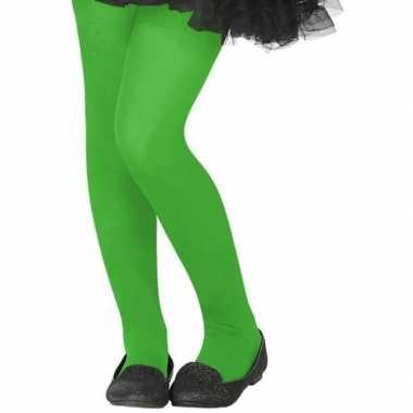 Carnavalskleding neon groene verkleed panty kinderen arnhem