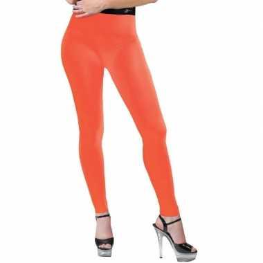 Carnavalskleding neon oranje legging dames arnhem