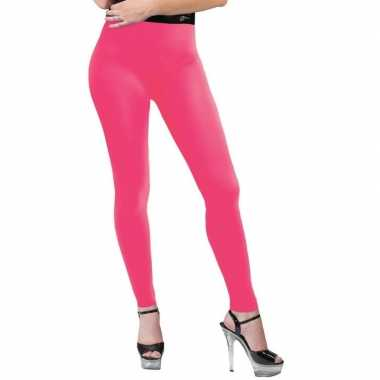 Carnavalskleding neon roze legging dames arnhem
