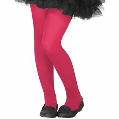 Carnavalskleding neon roze verkleed panty kinderen arnhem