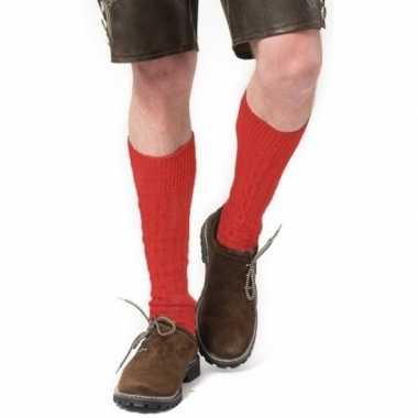 Carnavalskleding oktoberfest oktoberfest tiroler verkleed kousen rood