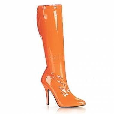 Carnavalskleding  Oranje dames laarzen Arnhem