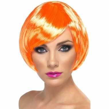Carnavalskleding oranje damespruik kort haar arnhem