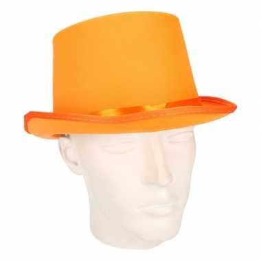 Carnavalskleding oranje hoge hoed volwassenen arnhem