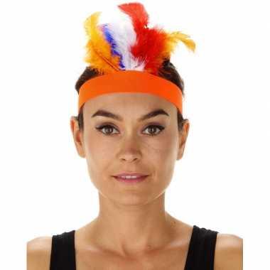 Carnavalskleding oranje indianentooi verkleed hoofdband dames arnhem