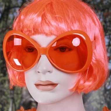 Carnavalskleding oranje mega zonnebril arnhem