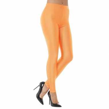 Carnavalskleding oranje spandex verkleed legging dames arnhem