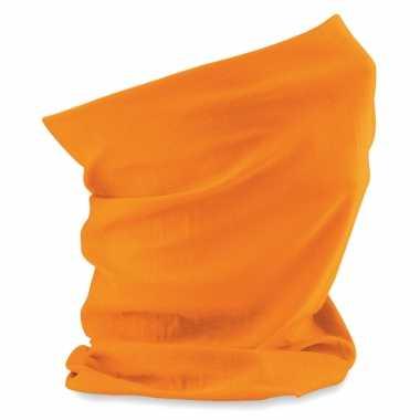 Carnavalskleding oranje supporters nekwarmer arnhem