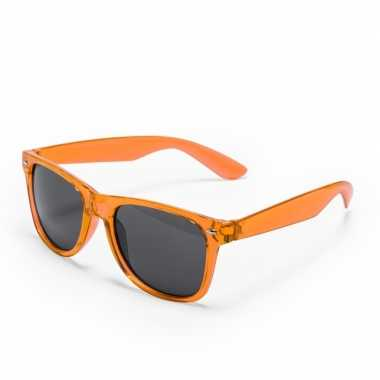 Carnavalskleding oranje verkleed accessoire zonnebril volwassenen arn