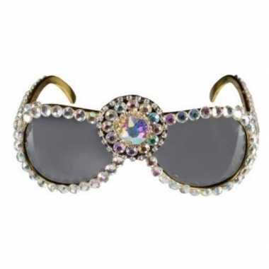 Carnavalskleding over the top zonnebril bling bling dames arnhem