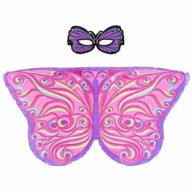 Carnavalskleding paars/roze fantasievlinder verkleedset meisjes arnhe
