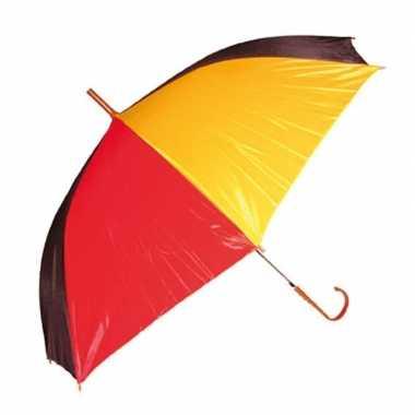 Carnavalskleding paraplu rood/geel/zwart arnhem