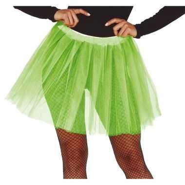 Carnavalskleding petticoat/tutu verkleed rokje lime groen dames arnhe