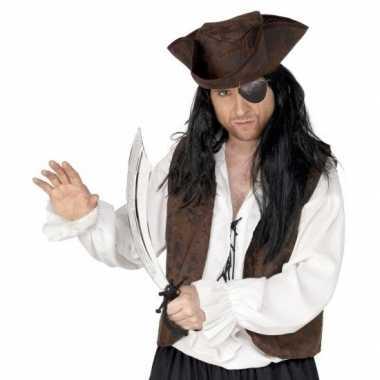 Carnavalskleding piraat accessoires verkleedset ooglapje zwaard arnhe