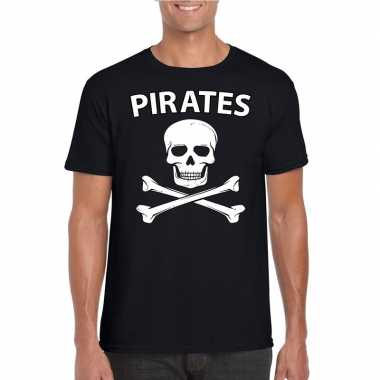 Carnavalskleding piraten verkleed shirt zwart heren arnhem