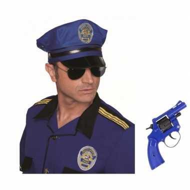 Carnavalskleding politie accessoires verkleedset revolver pet arnhem