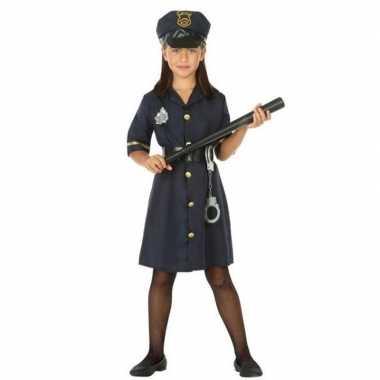 Carnavalskleding politie agente verkleed jurk/jurkje meisjes arnhem