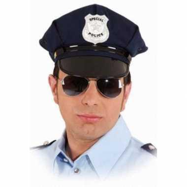Carnavalskleding politie pet blauw volwassenen arnhem 10069273