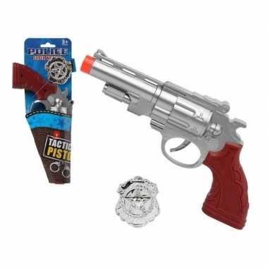 Carnavalskleding politie speelgoed pistool zilver arnhem