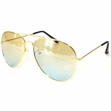 Carnavalskleding politiebril goud gele glazen volwassenen arnhem