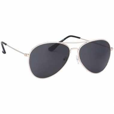 Carnavalskleding politiebril lichtgoud donkere glazen volwassenen arn