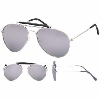 Carnavalskleding politiebril zilver spiegel glazen volwassenen arnhem