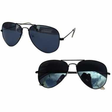 Carnavalskleding politiebril zwart donkere glazen volwassenen arnhem