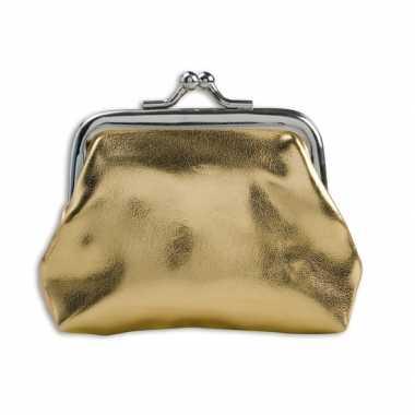 Carnavalskleding portemonnee goud metallic arnhem