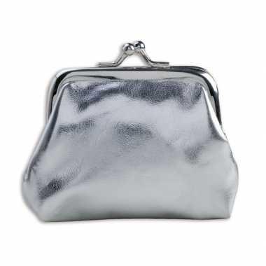 Carnavalskleding portemonnee zilver metallic arnhem