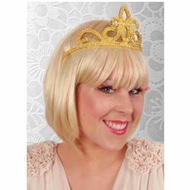 Carnavalskleding prinses tiara goud dames arnhem