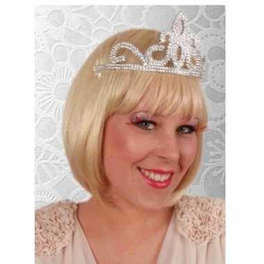 Carnavalskleding prinses tiara zilver dames arnhem