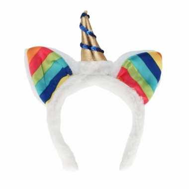 Carnavalskleding regenboog eenhoorn diadeem volwassenen arnhem