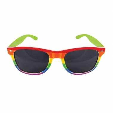 Carnavalskleding regenboog feest bril volwassenen arnhem