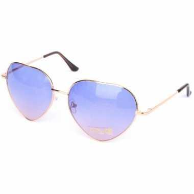 Carnavalskleding  Retro zonnebril hartvorm paarse glazen Arnhem