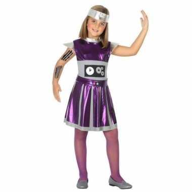 Carnavalskleding robot verkleed jurk/jurkje meisjes arnhem