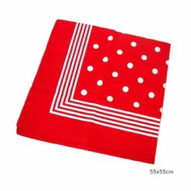 Carnavalskleding rode boeren zakdoek stippen arnhem