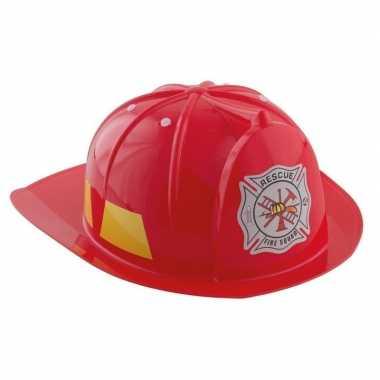 Carnavalskleding rode brandweerhelm verkleed accessoire kinderen arnh