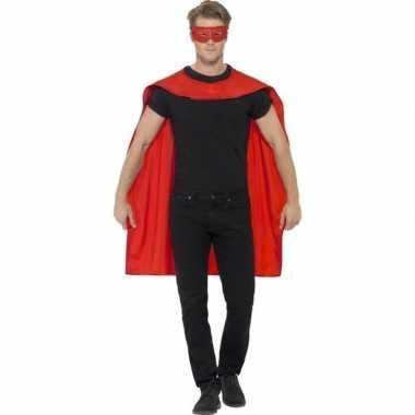 Carnavalskleding rode cape oogmasker volwassenen arnhem