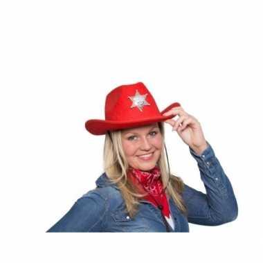 Carnavalskleding rode cowboyhoed led verlichting arnhem