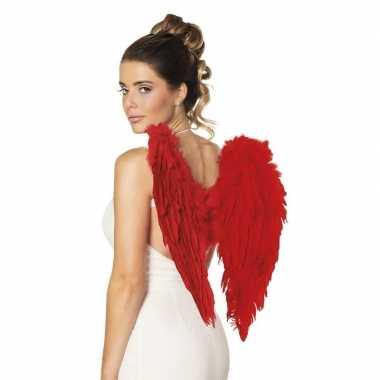 Carnavalskleding rode engelen/duivel vleugels arnhem