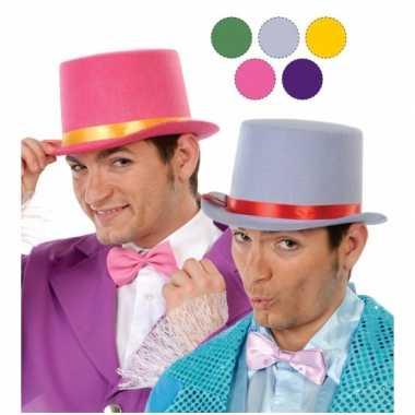 Carnavalskleding rode hoge hoed vilt volwassenen arnhem