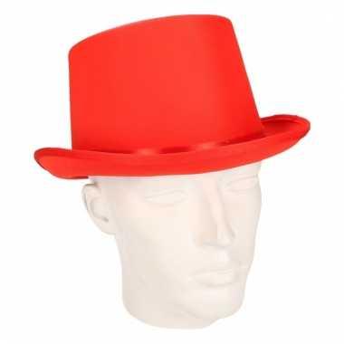 Carnavalskleding rode hoge hoed volwassenen arnhem