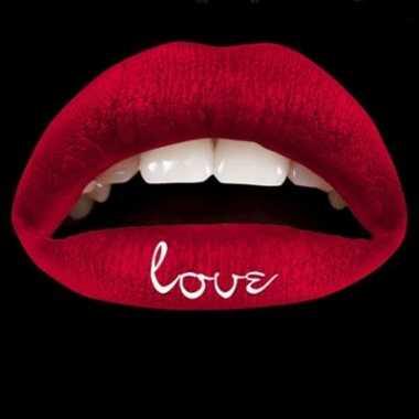 Carnavalskleding rode lip tattoo love arnhem
