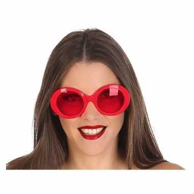 Carnavalskleding rode ronde verkleed zonnebril arnhem