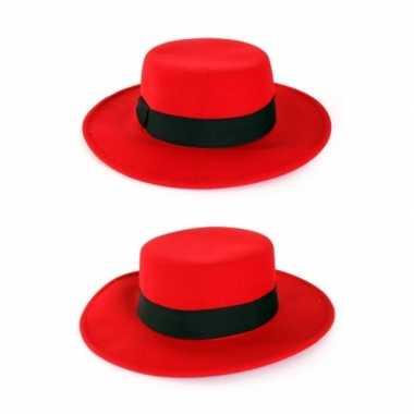 Carnavalskleding rode spaanse hoed band arnhem
