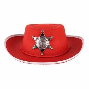 Carnavalskleding rode vilt cowboyhoed kinderen arnhem