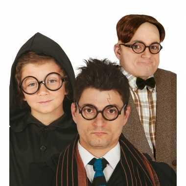Carnavalskleding ronde zwarte nerd verkleed bril zonder glazen arnhem